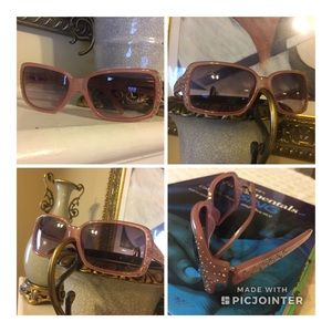 Pre-owned Fossil Sunglasses with side Rhinestones